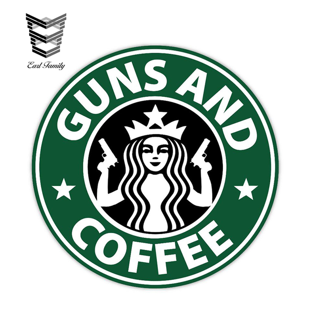Big Discount 69bd2 Earlfamily 12cm X 12cm Car Stickers Guns And Coffee Sticker Decal Funny Car Styling Sticker Waterproof Auto Motor Decor Graphics Cicig Co