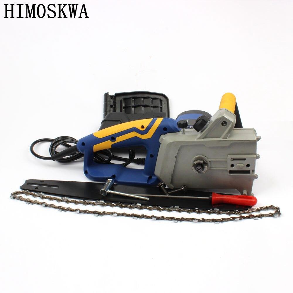 2200w haute efficacité scie à chaîne électrique coupe scies à bois outil électrique