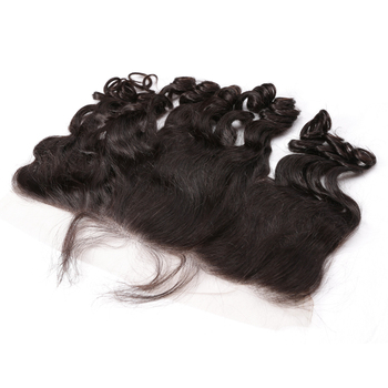 Ear to Ear 13x6 Lace Frontal With Baby Hair Pre Plucked Brazilian Loose Wave 100% Remy Human Hair Free Part