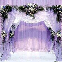 Hilo de tul de cristal para niña pequeña, 10 m/lote, 48cm, Organza, elemento de gasa transparente, fiesta de cumpleaños, bricolaje, vestido de boda, suministros decorativos