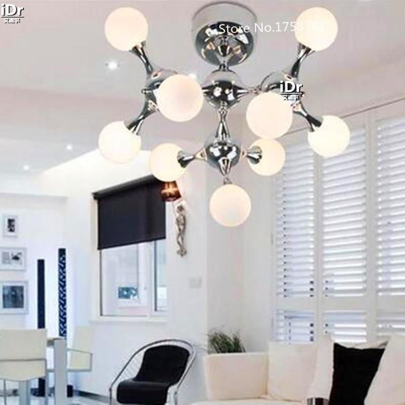 Modernen Minimalistischen Molekl Kreative Kunst Lampe Beleuchtung Wohnzimmer Glas Kugel Deckenleuchten Rmy 0370 In