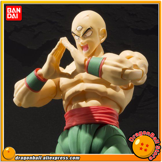 Japan Anime Dragon Ball Z Original BANDAI Tamashii Nations S.H. Figuarts / SHF Exclusive Action Figure - TENSHINHAN genuine bandai exclusive tamashii nation 10th anniversary s h figuarts dragon ball z son gokou goku kaiohken ver action figure