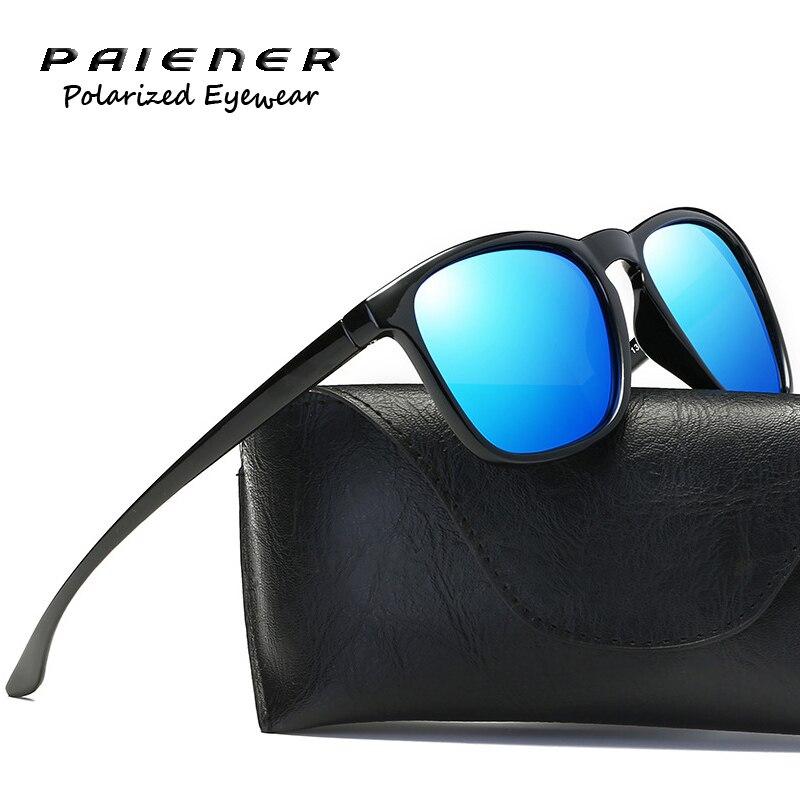 Polarisées lunettes de Soleil Hommes femmes marque designer TR90 cadre Rétro Carré Unisexe lunettes de soleil Lunettes de conduite lunettes oculos de sol