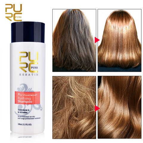 PURC 1 Set Formalin Brazilian Keratin Hair Treatment Conditioner and Protein Shampoo for Damage Hair Straightening Hair Repair Karachi