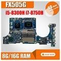 Материнская плата для ноутбука ASUS FX505G FX505GE FX505GD FX505GM mainbaord i5-8300H i7-8750H 8G/16G RAM обмен!