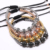 5 Tapones de Zirconia Pulseras 4mm perlas 24 K chapado en oro y 8mm circón incrustaciones de Micro perlas Trenzado Macrame Pulseras Para Hombres mujeres