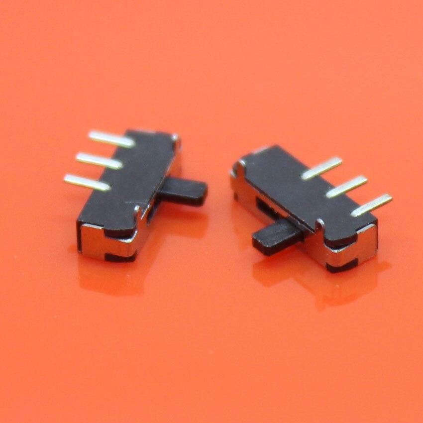 Cltgxdd AJ-118 interrupteur de réinitialisation 3 pieds 2 fichiers glissière horizontale marche/arrêt 2 positions 1P2T Miniature horizontale SMT SMD interrupteur à glissière