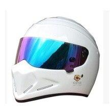 Nuevo llega hombres mujeres de la cara llena de motos cascos starwars atv casco de seguridad frp modelo simpson cerdo casco de carreras de moto capacete