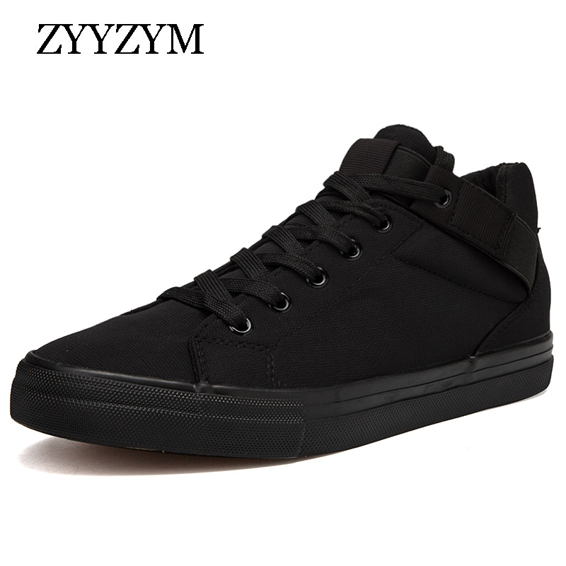 ZYYZYM Hommes Chaussures Automne Hiver Nouvelle Arrivée 2018 Toile Classique Style Respirant Espadrilles De Mode Hommes Casual Chaussures
