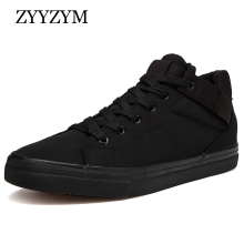 ZYYZYM Men Shoes Autumn Winter New Arrival 2018 Canvas Classic Style 숨 패션 Sneakers Men Casual Shoes(China)
