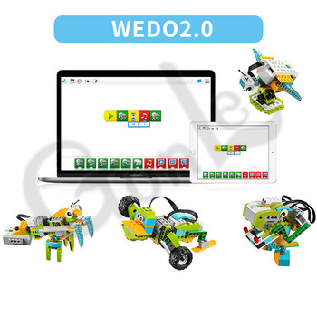 2019 NEW Technic WeDo 3.0 Robotics Construction Set Building Blocks Compatible with logoes Wedo 2.0 Educational DIY toys 1