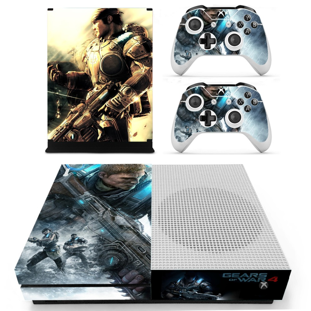 for xbox one s vinyl skin sticker decals for the xbox one s console with two wireless controller. Black Bedroom Furniture Sets. Home Design Ideas