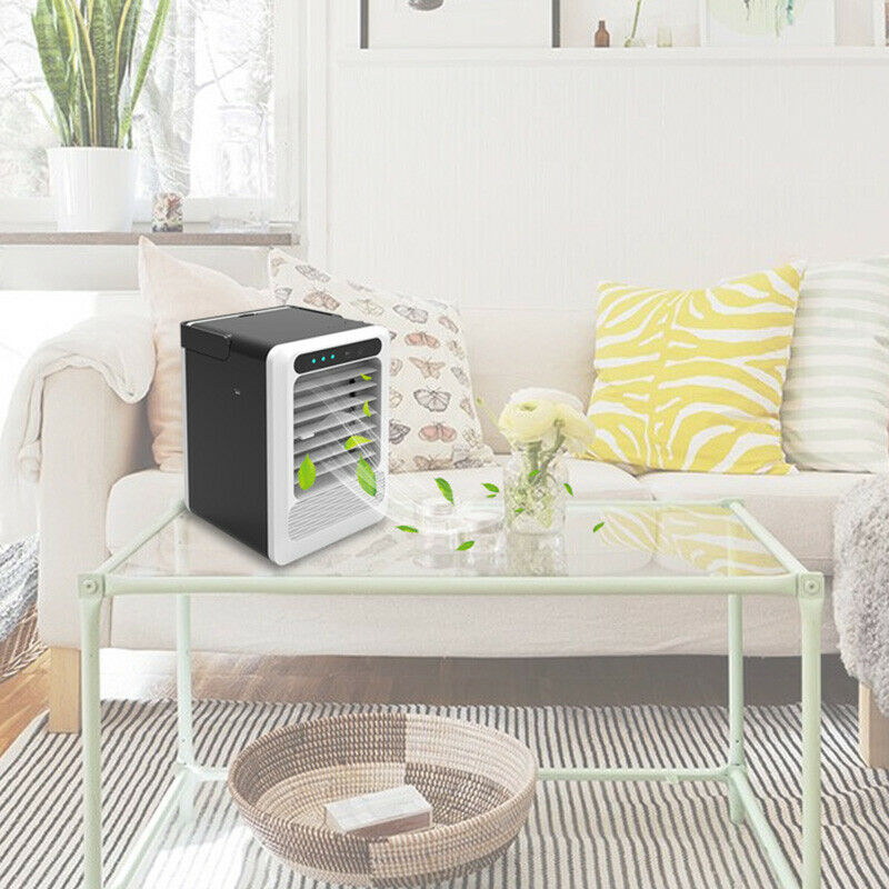 USB Air Conditioning Fan Mini Air Cooler Refrigeration Mobile Portable Air Conditioner 3-speed Air Cooler Furniture Accessories