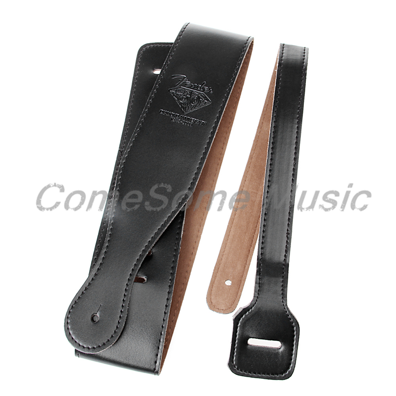 Popular Adjustable Soft PU Leather Thick Strap For Electric Acoustic Guitar Bass 150cm comfortable soft guitar strap fully adjustable polyester belt pu leather ends belt for acoustic folk electric guitar bass