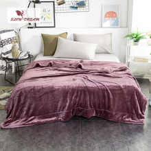 Купить с кэшбэком Slowdream Fashion Thick Sherpa Throw Dark Gray Blanket Weighted Flannel Fleece Blanket Adult All Season For Bed Or Couch 1PCS