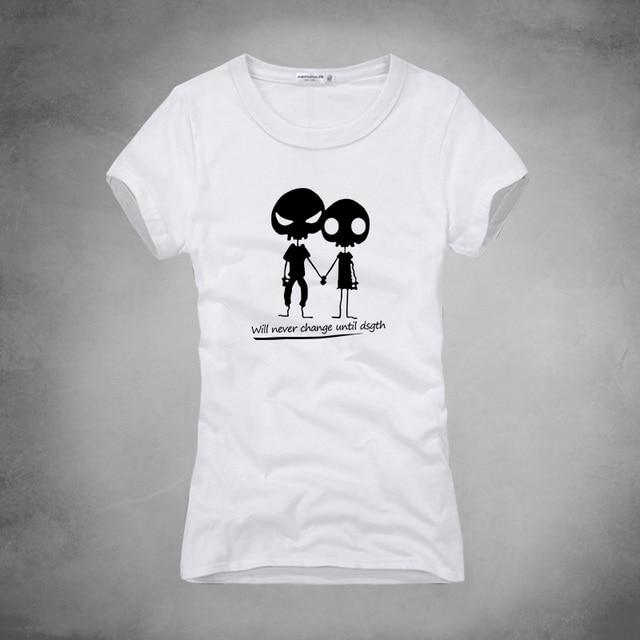 Aliexpress.com : Buy Summer Women Skull Couple Printed Funny t ...