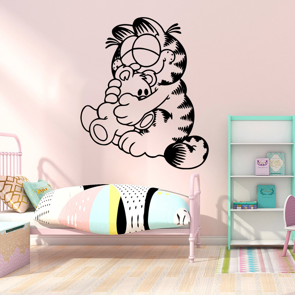 Funny Garfield Wall Sticker Home Decoration Living Room Children Room Decal Creative Stickers