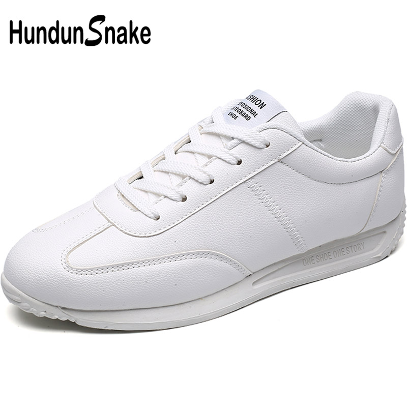 Hundunsnake White Leather Men's Sneakers Male Sports Shoes Women's Sport Shoes Men Running Shoes Men Jogging Trainers Gym T618