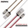 Remax ios10 certificada 8pin usb cabo de carregamento de dados para iphone 7 5 5S 6 6 s plus para ipad air 2 transmitir linha 2 m/1 m/0.2 m 2.1a