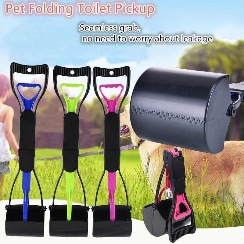 Puppy Pet Pooper Scooper Manico Lungo Jaw Poop Scoop Clean Pick Up Rifiuti di Origine Animale Del Gatto Del Cane Picker Strumenti di Pulizia Outdoot