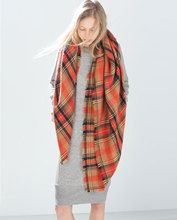 New Plaid Thick Blanket Tartan Scarf Winter Poncho Big Square Latest Female Brand Scarf For Women