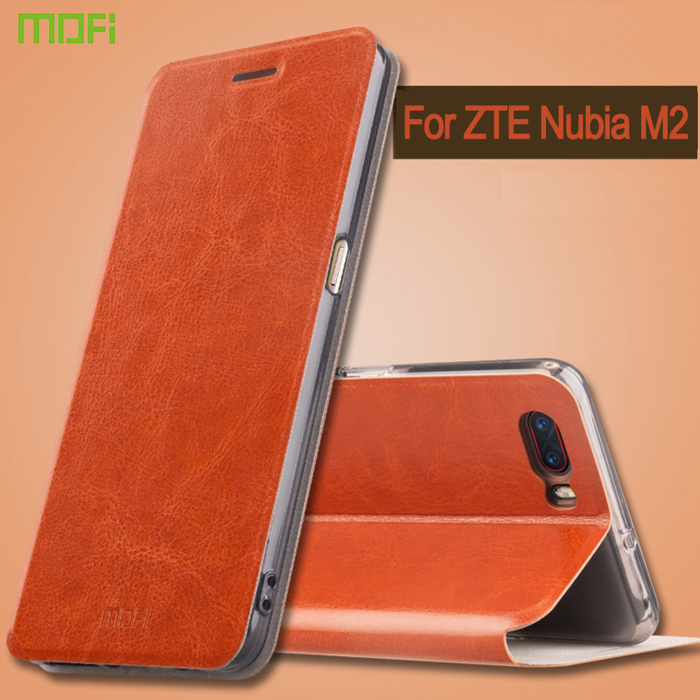 MOFI for ZTE Nubia M2 phone case Crazy Horse Horizontal Flip Leather Case with Holder Cover Phone Back Shell Covers mobile phone