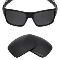 Mryok+ POLARIZED Resist SeaWater Replacement Lenses for Oakley Turbine Sunglasses Stealth Black