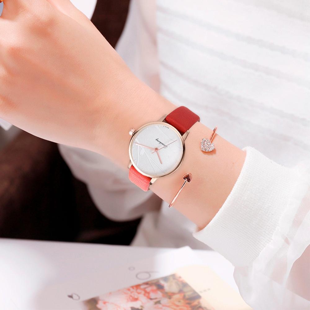 Fashion Women Sweet Watches Fashion Dress Ladies Watch Elegant Bird Leather Strap Quartz Wristwatch Clock Women