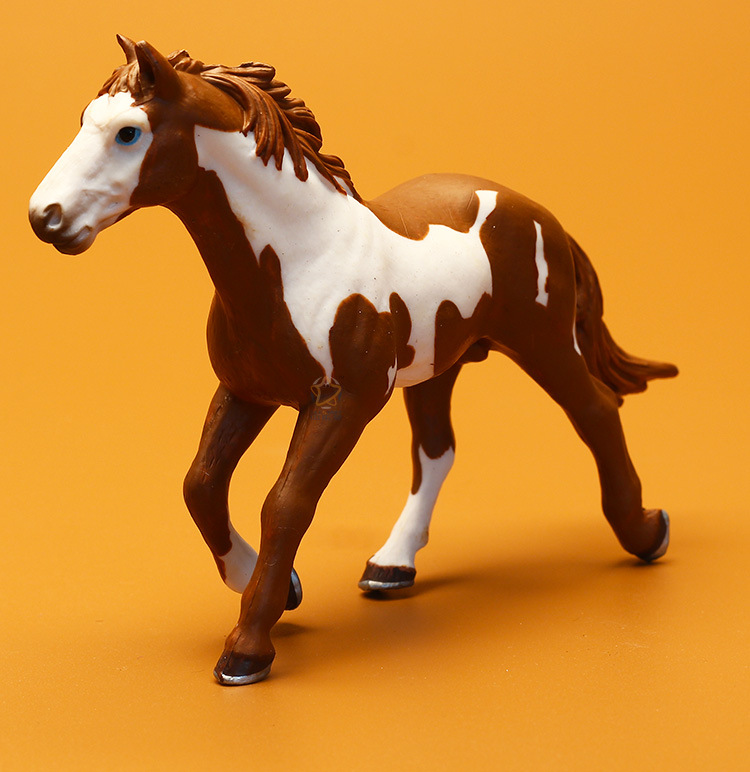 Classics Toy Horse,New Zoo Simulation Farm animal Plastic Wild Horse model  figurine PVC toy garden figurines Gift For Children.