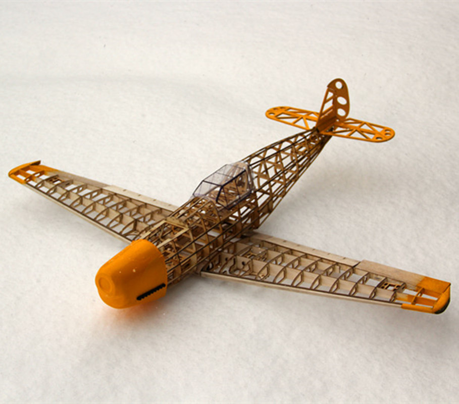 US $13 49 10% OFF|RC Plane Laser Cut Balsa Wood Airplane Kit New BF109  Frame without Cover Free Shipping Model Building Kit-in RC Airplanes from  Toys