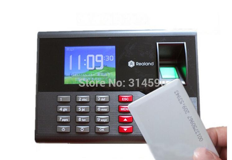 Realand Fingerprint Time attendance TCP/IP Time Recorder System A-C121 With Free Software 125Khz Card Reader wholesale realand m f131 color fingerprint access control system time clock attendance id card reader tcp ip usb free shipping