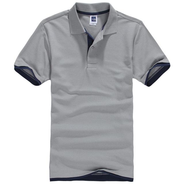 2016 verano nueva marca para hombre de manga corta polo camisa de los hombres de algodón clásico camisetas Ocasionales del Envío Libre Más El Tamaño M-3XL Superior