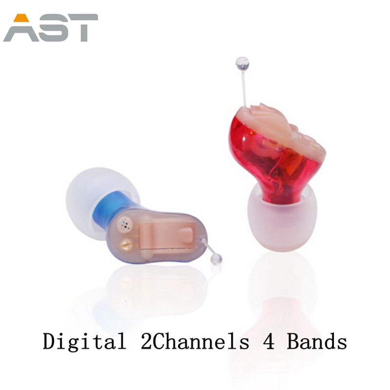 AST T21 CIC Digital 2Channels 4 Bands Hearing Aid China cheap mini Invisible hearing Aids ear sound amplifier for eldly free shipping hearing aids aid behind the ear sound amplifier with cheap china price s 268
