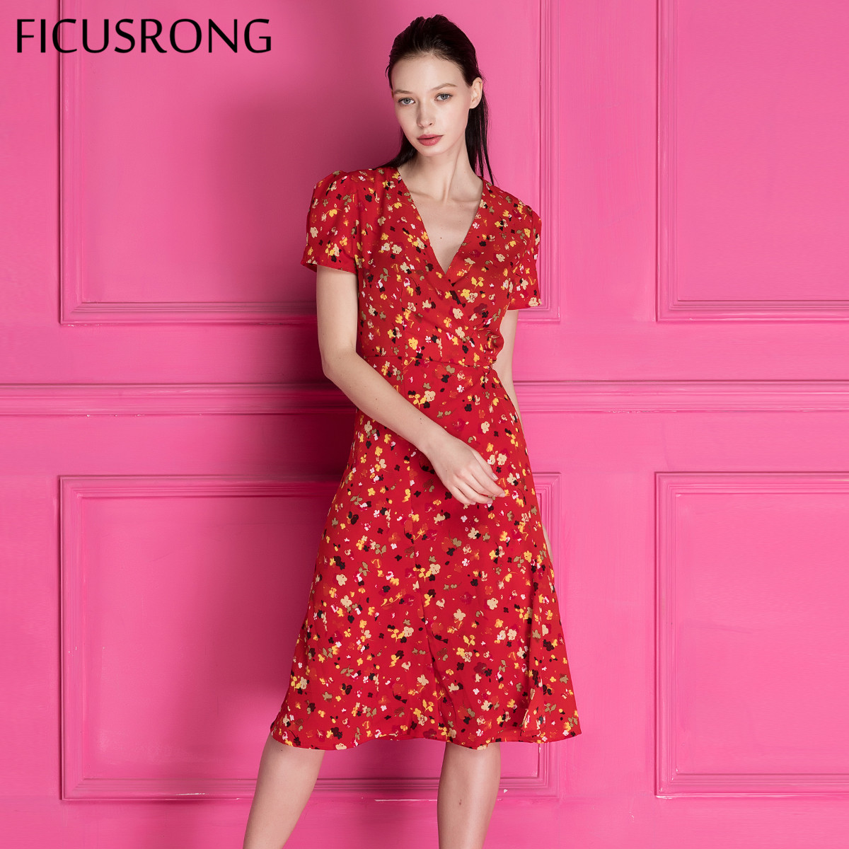 Aliexpress Buy Vintage Deep V Neck Lace Up Dress