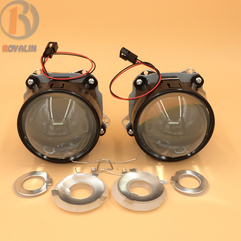 ФОТО 3.0'' Bi Xenon HID H1 Projector Headlights Lens LHD RHD Plastic Holder Clear Lens for H4 H7 Night Lights Car-styling Retrofit