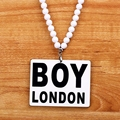 Brand Good Wood Men Pendant Long Chain Necklace Hip Hop Boy London Hiphop Acrylic Pendants Necklaces Women Costume Jewelry