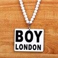 Brand Good Wood Men Pendant Long Chain Necklace Hip Hop Boy London Hiphop Acrylic Pendants Necklaces Women Costume Jewelry