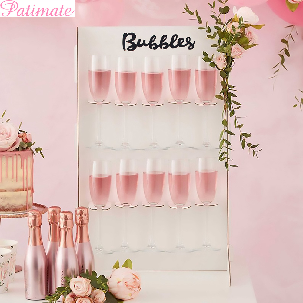 Patimate Diy Prosecco Champagne Wall Rustic Wedding Decoration Bubbles Wall Stand For Bridal Shower Decor Wedding Party Supplies