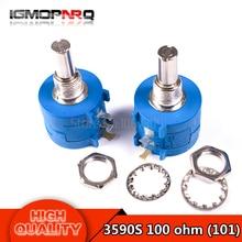 3590S-2-101L 3590S 100 ohm Precision Multiturn Potentiometer 10 Ring Adjustable Resistor
