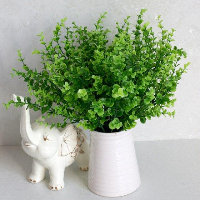 New 7 Branch/bouquet Artificial Plants Decorative Simulation Eucalyptus  Grass Home Table Decoration Flower Accessories