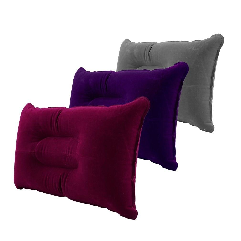 Portable Fold Outdoor Air Inflatable Pillow Camping Hiking Cushion Break Rest Sleep Travel Plane Worldwide Pillow Cushion Hot