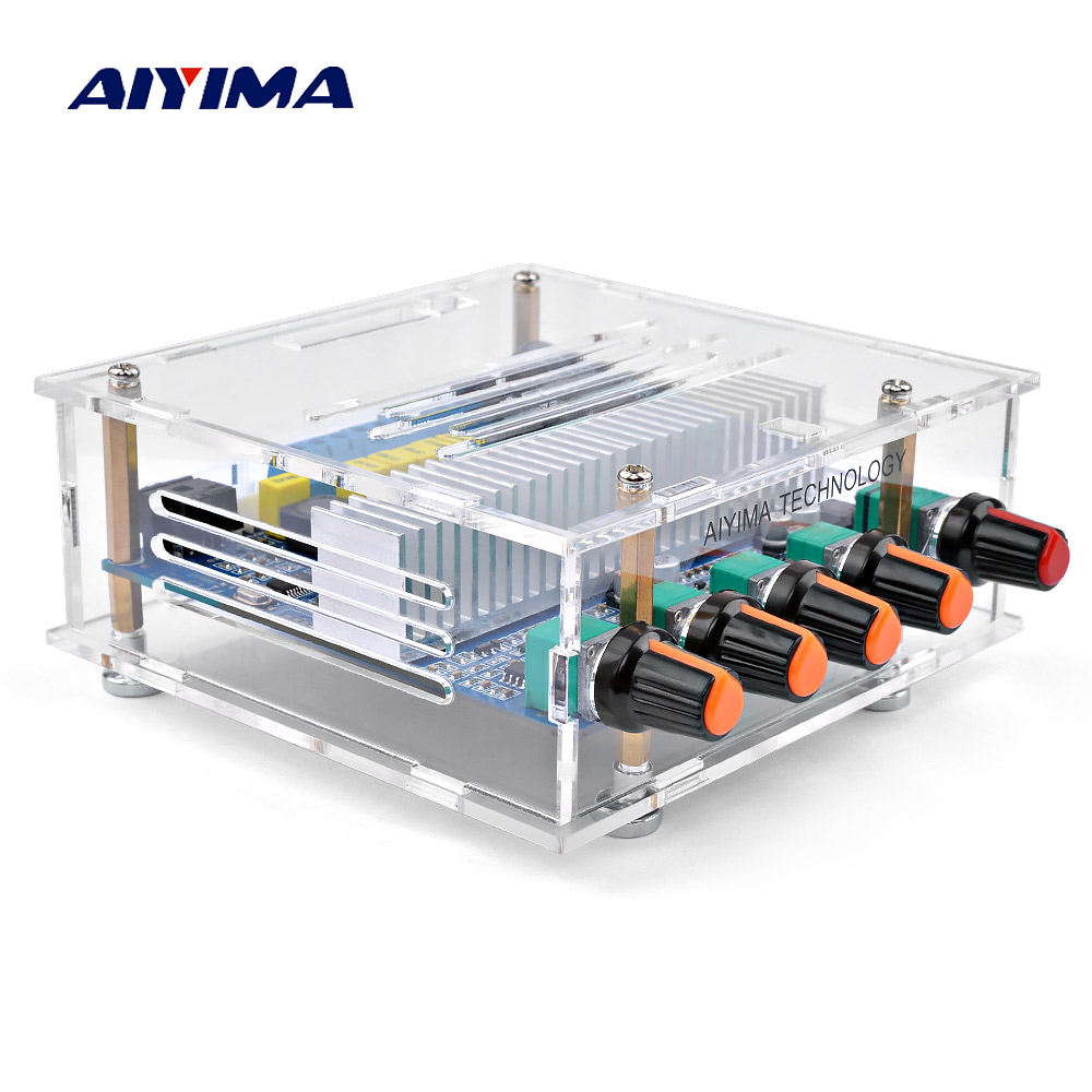 AIYIMA TPA3116 Subwoofer Bluetooth Amplifier Digital Audio Board 2.1 Channel Bluetooth 4.2 Power Amplifier Board 50Wx2+<font><b>100W</b></font> <font><b>DIY</b></font> image