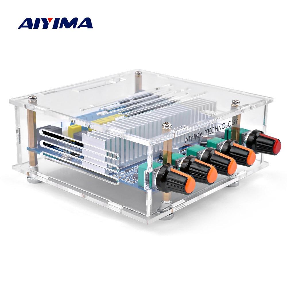 AIYIMA TPA3116 Subwoofer Bluetooth Amplifier Digital Audio Board 2.1 Channel Bluetooth 4.2 Power Amplifier Board 50Wx2+100W DIY