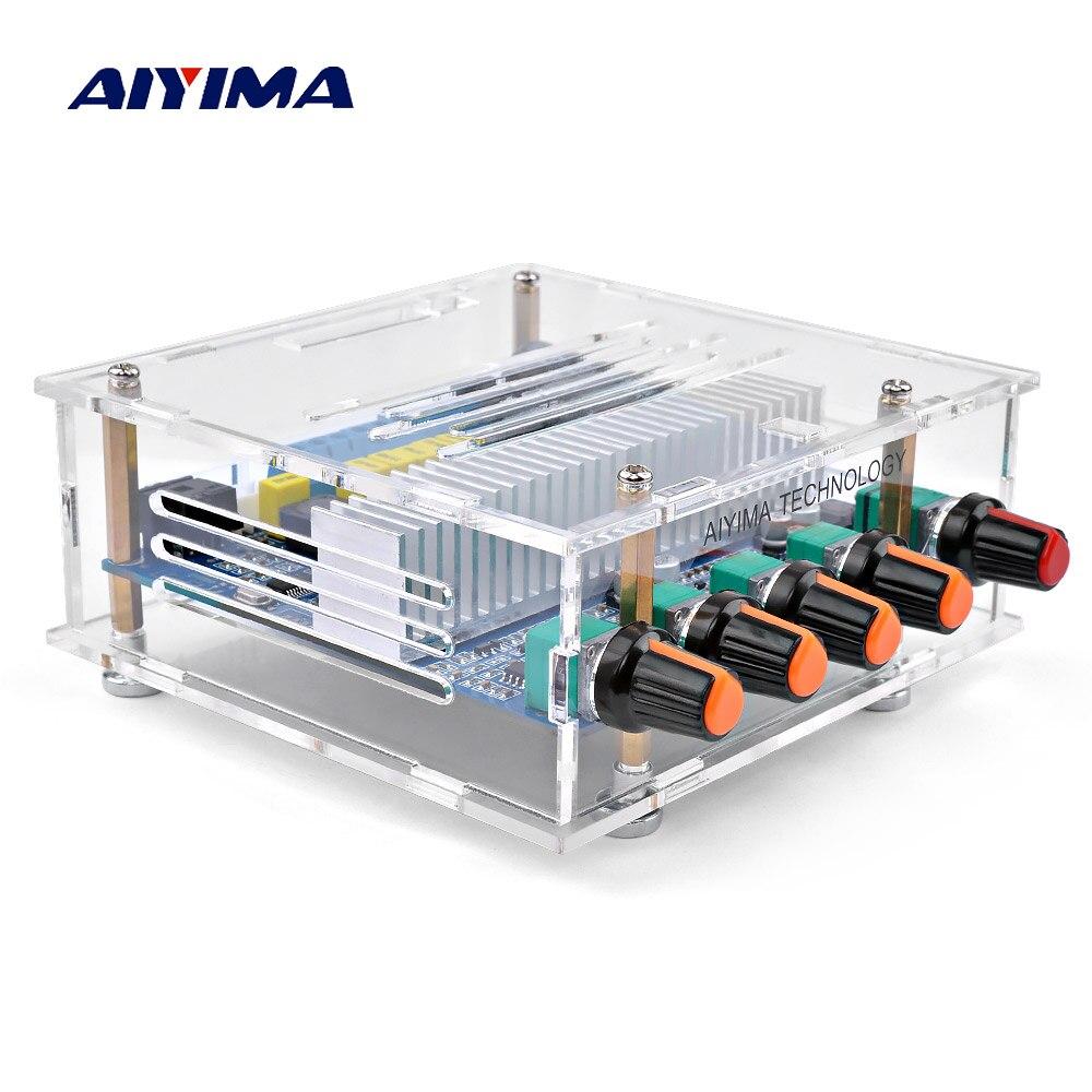 Aiyima tpa3116 subwoofer amplificador bluetooth placa de áudio digital 2.1 canais bluetooth 4.2 placa amplificador potência 50wx2 + 100 w diy