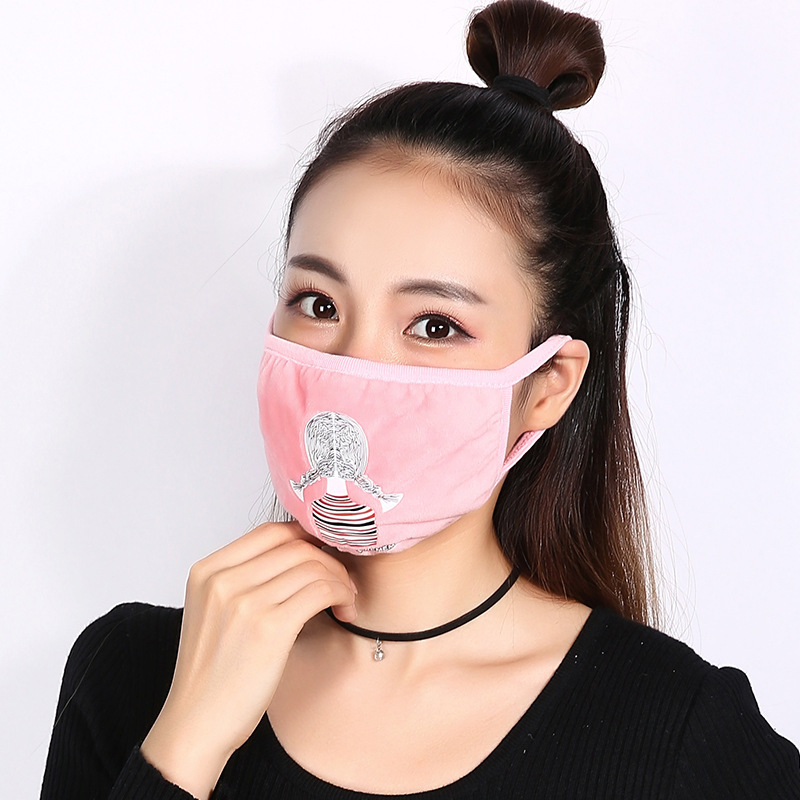 10pcs/Pack TB Winter Mask Female Riding Dustpr Lady Mask Dust Proof Female Thickening Mask Ms. Masken Thick Masks Wholesale