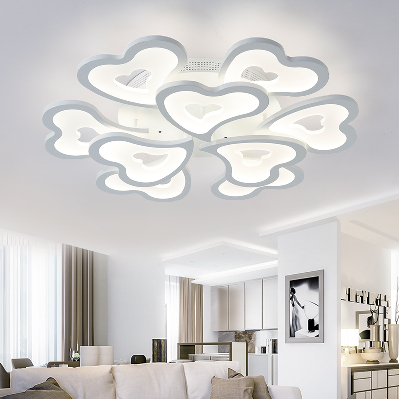 Smart LED Ceiling Light Remote Control Dimmable Lamp Living Room Lighting Fixture Bedroom