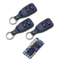 DC 3 5V 12V Mini Remote Switch Micro Wireless Control Switch No Sound For Lighting Door