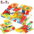 104PCS Marble Race Run Maze Ball Track With Baseplate DIY Building Blocks Compatible Legoed Duploe Train Bricks Toys For Kids