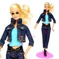 ( Комбинат ) джинсы деним костюм пальто брюки синий верхний одежда комплект аксессуары одежда для Kurhn Barbie кукла игрушка