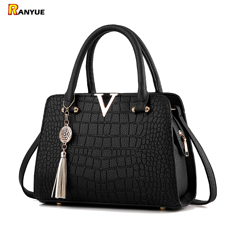 Crocodile Pattern Women Bag Handbags Women Messenger Bags Female Crossbody Shoulder Bags Brand Ladies Leather Handbag Tassel Bag 2018 yuanyu 2016 new women crocodile bag women clutches leather bag female crocodile grain long hand bag